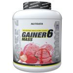 Gainer 6 Mass - 3000g Morango - Nutrata no Atacado