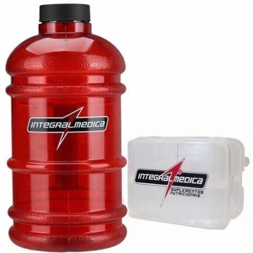 Galão Vermelho (2,2 litros) + Porta Cápsulas - IntergralMédica no Atacado