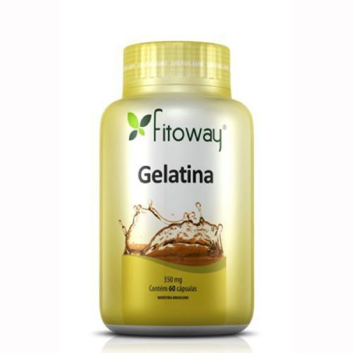 Gelatina 350mg - 60 Cápsulas - Fitoway no Atacado