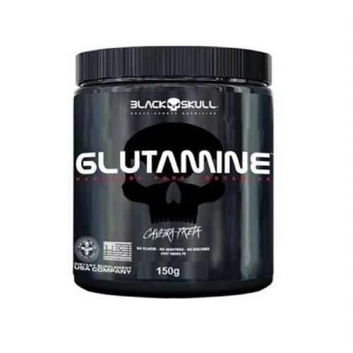 Glutamine - 150g Sem Sabor - Black Skull no Atacado
