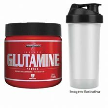 Glutamine Powder - Natural 300g  + Coqueteleira - Integralmédica