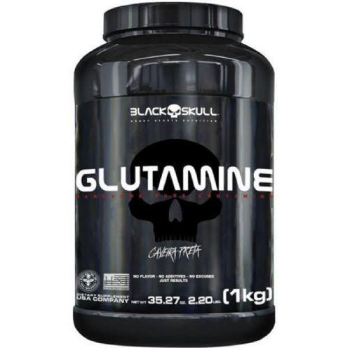 Glutamine - Sem Sabor 1000g - Black Skull no Atacado