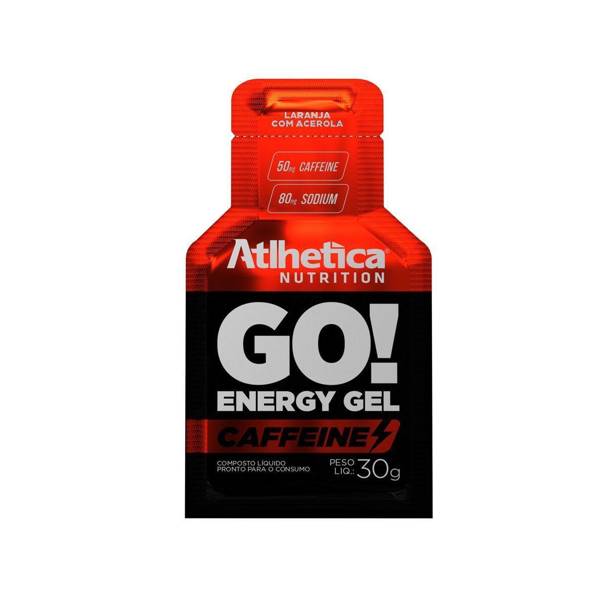 Go Energy Gel Caffeine - 1 Sachê Laranja com Acerola - Atlhetica Nutrition