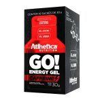 Go Energy Gel Caffeine - 10 Sachês 30g Morango com Limão - Atlhetica Nutrition no Atacado