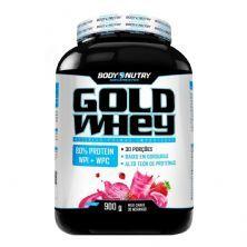 Gold Whey - 900g Milk Shake de Morango - Body Nutry