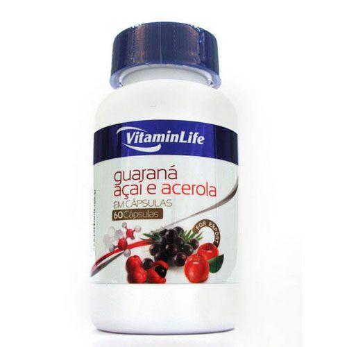 Guaraná, açai e acerola em cápsulas Farma - 60 cápsulas - VitaminLife
