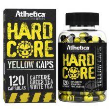 Hardcore Yellow Caps Hardcore Series - 120 Cápsulas 420mg Cafeína - Atlhetica Nutrition
