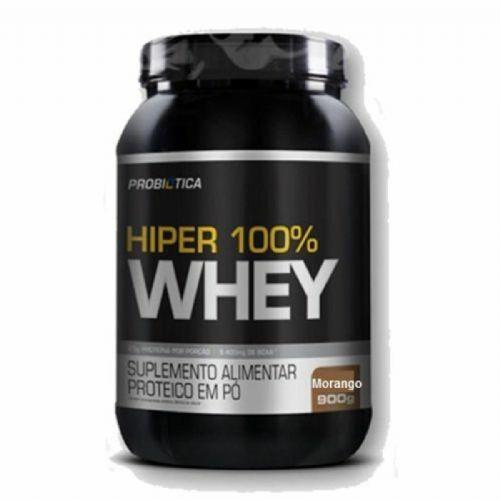 Hiper 100% Whey - 900g Morango - Probiotica no Atacado