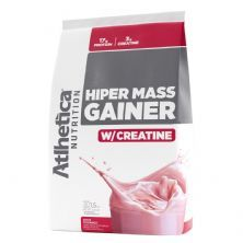 Hiper Mass Gainer - 1.500g Refil Morango - Atlhetica Nutrion