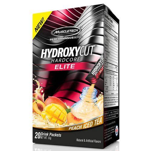 Hydroxycut Hardcore Elite - 20 Sachês Peach Iced Tea