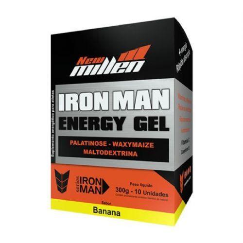 Iron Man Instant Energy Gel - 10 Unidades 30g Banana - New Millen no Atacado