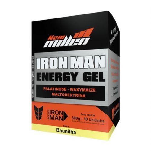 Iron Man Instant Energy Gel - 10 Unidades 30g Baunilha - New Millen no Atacado