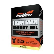 Iron Man Instant Energy Gel - 10 Unidades 30g Baunilha - New Millen