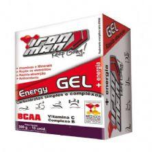 Iron Man Instant Energy Gel - Caixa com 10 Unidades Tangerina - New Millen