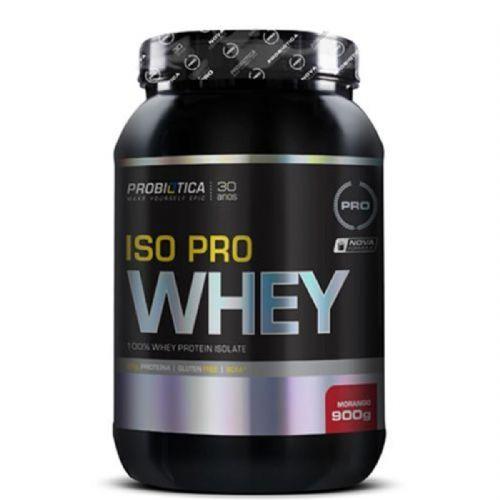 Iso Pro Whey - 900g Morango - Probiotica no Atacado
