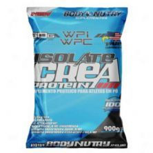 Isolate Crea Protein - 900g Refil Morango - Body Nutry