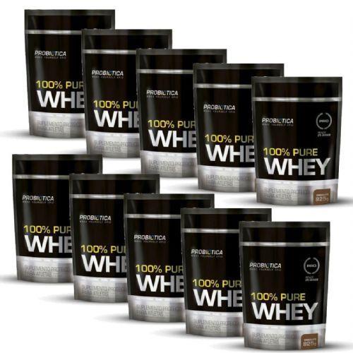 Kit 10 100% Pure Whey - 825g Refil Chocolate - Probiotica no Atacado