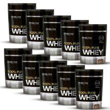 Kit 10 100% Pure Whey - 825g Refil Chocolate - Probiotica