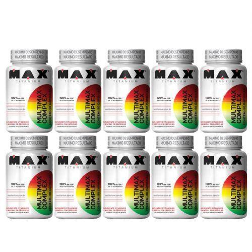 Kit 10 Multimax Complex - 90 Cápsulas - Max Titanium no Atacado