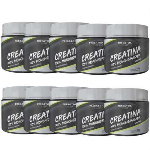 Kit 10 Predator Creatina 100% Monohidratada - 150g - Nutrata no Atacado