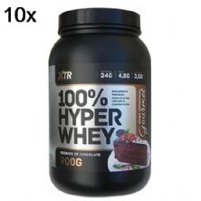 Kit 10X 100% Hyper Whey - 900g Brownie de Chocolate - XTR