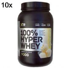 Kit 10X 100% Hyper Whey - 900g Sorvete de Creme - XTR
