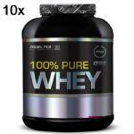 Kit 10X 100% Pure Whey - 2000g Baunilha - Probiotica no Atacado