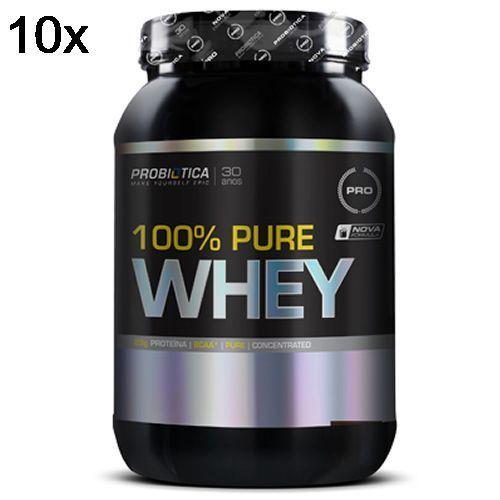 Kit 10X 100% Pure Whey - 900g Chocolate - Probiótica no Atacado