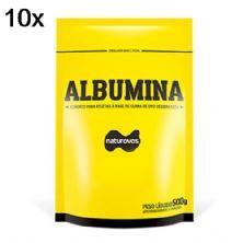 Kit 10X Albumina - 500g Refil Chocolate - Naturovos