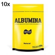 Kit 10X Albumina - 500g Refil Natural - Naturovos