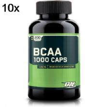 Kit 10X BCAA 1000 - 200 Cápsulas - Optimum Nutrition