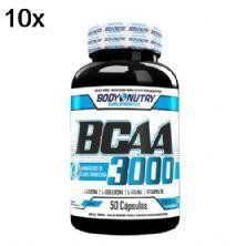 Kit 10X BCAA 3000 - 50 Cápsulas - Body Nutry