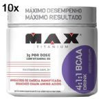 Kit 10X BCAA 4:1:1 - 280g Drink Uva - Max Titanium no Atacado