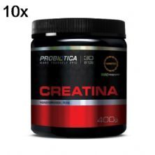 Kit 10X Creatina Creapure  Monohidratada Pura - 400g - Probiótica