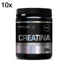 Kit 10X Creatina Monohidratada Pura - 100g - Probiótica