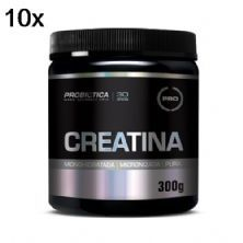 Kit 10X Creatina Monohidratada Pura - 300g - Probiótica