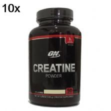 Kit 10X Creatine Powder - 150g Sem Sabor - Optimum Nutrition