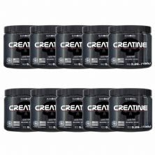 Kit 10X Creatine Pure Monohydrate - 150g - Black Skull