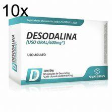 Kit 10X Desodalina - 60 Cápsulas - Sanibras