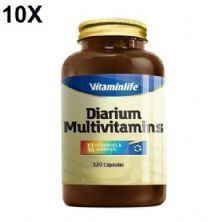 Kit 10X Diarium Multivitamínico - 120 Cápsulas - VitaminLife