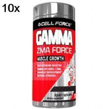 Kit 10X Gamma ZMA Force - 60 Cápsulas - Cell Force