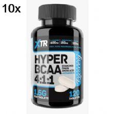 Kit 10X Hyper BCAA 4:1:1 - 120 Tabletes - XTR