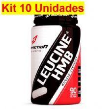 Kit 10X Leucine HMB Pós Treino - 90 Cápsulas - BodyAction