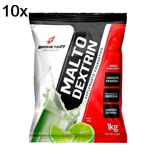 Kit 10X Malto Dextrin - 1000g Refil Limão - BodyAction no Atacado