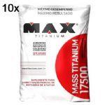 Kit 10X Mass Titanium 17500 - 1400g Refil Morango - Max Titanium no Atacado
