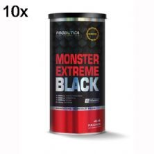 Kit 10X Monster Extreme Black New Power Formula - 44 Packs - Probiótica