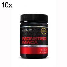 Kit 10X Monster Maca Peruana - 120 Cápsulas - Probiotica