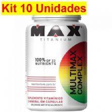 Kit 10X Multimax Complex - 90 Cápsulas - Max Titanium