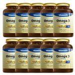 Kit 10 Omega 3 1000mg - 120 Cápsulas - VitaminLife no Atacado