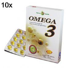 Kit 10X Omega 3 - 60 Cápsulas 500mg Soft Gel - Terra Verde
